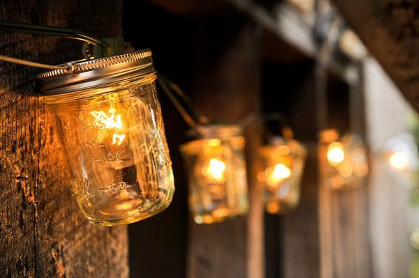 diy lights from jars4