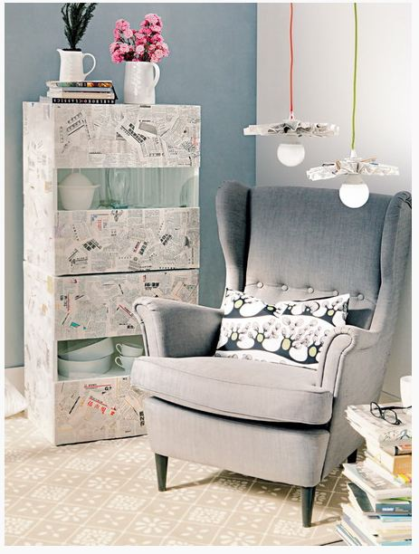 furniture decoupage from newspaper1