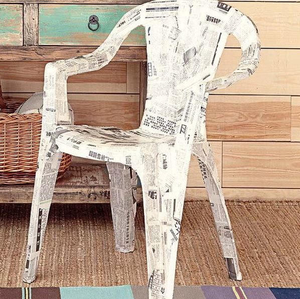 furniture decoupage from newspaper14
