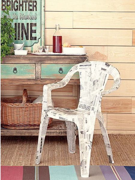 furniture decoupage from newspaper2