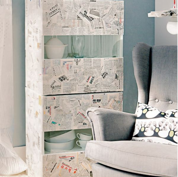 furniture decoupage from newspaper7