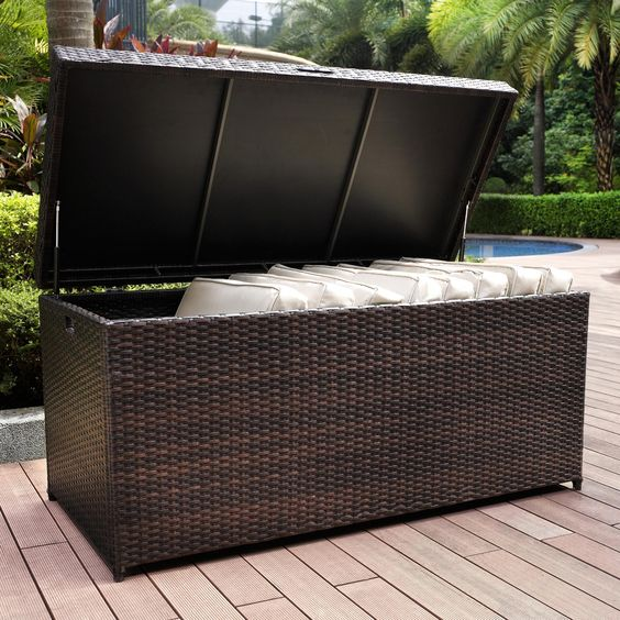outdoor furniture ideas with storage solutions17