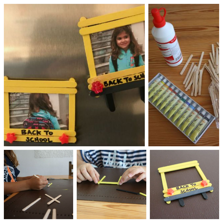 Diy maget photo frame for back to school