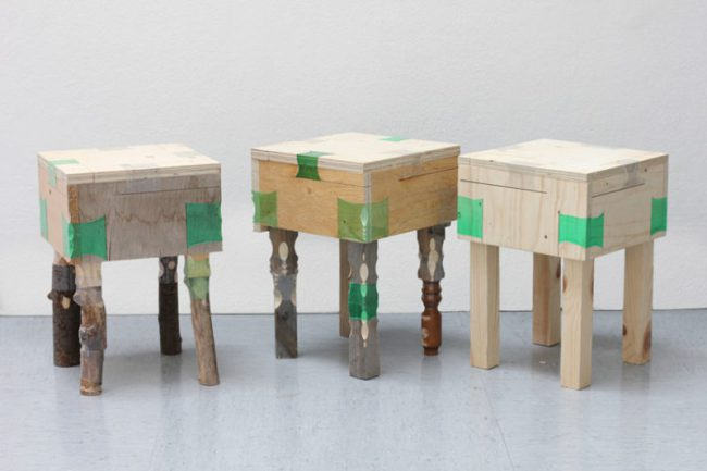 Plastic bottles join with furniture1