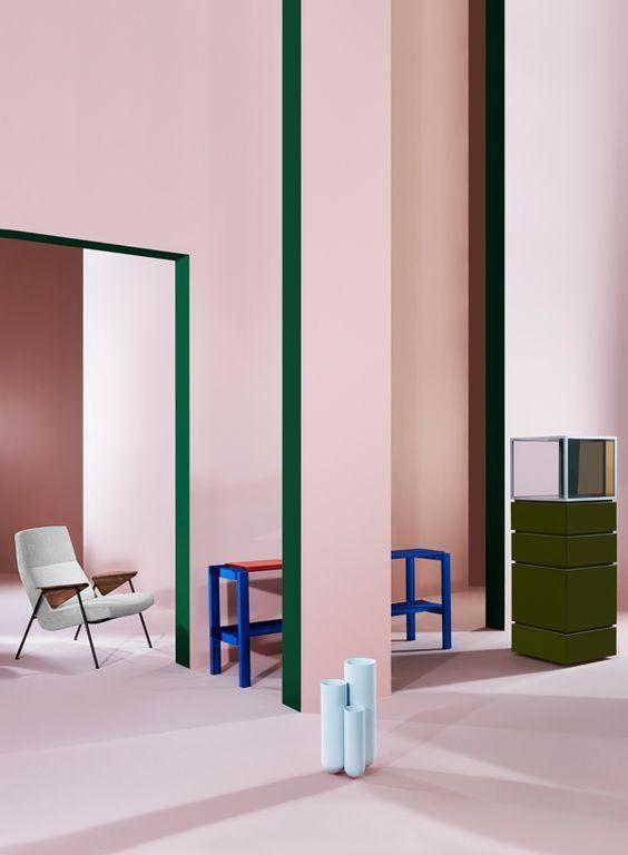 geometric shapes color wall deco11