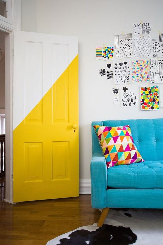 geometric shapes color wall deco16
