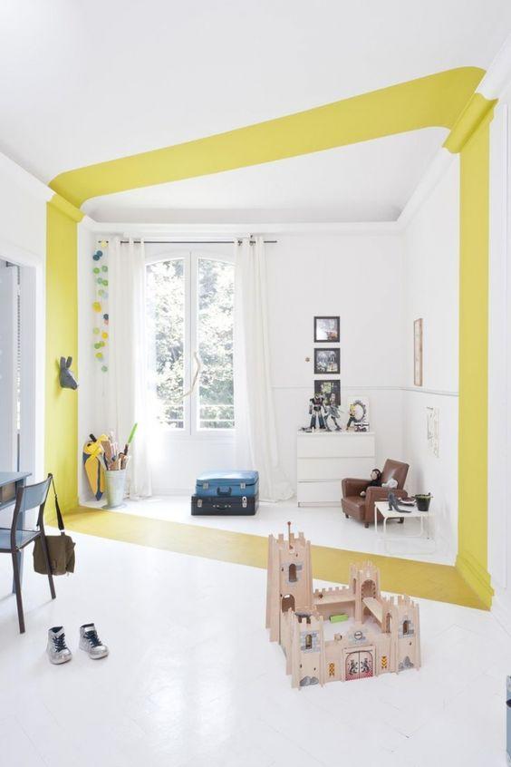 geometric shapes color wall deco23