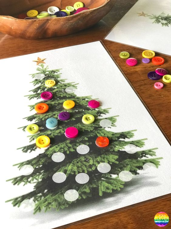 Christmas DIY crafts from buttons (18)