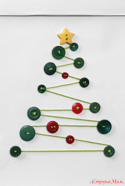 Christmas DIY crafts from buttons (25)