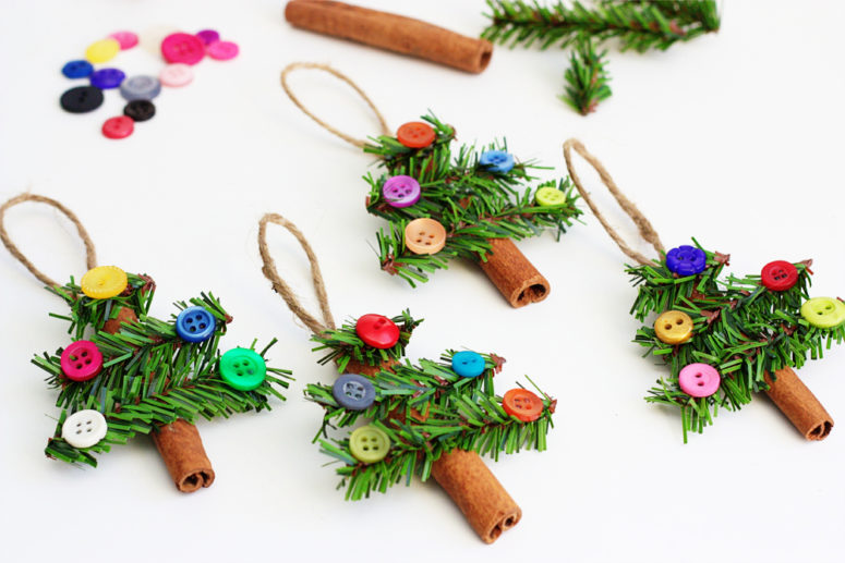 Christmas DIY crafts from buttons (4)