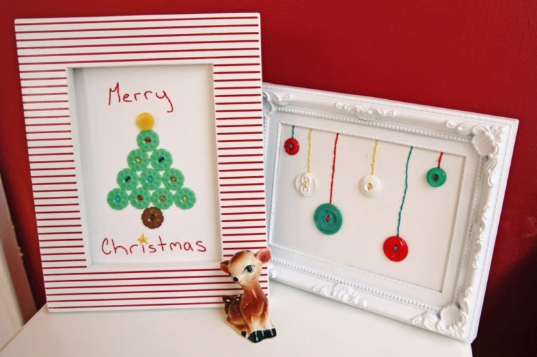 Christmas DIY crafts from buttons (6)