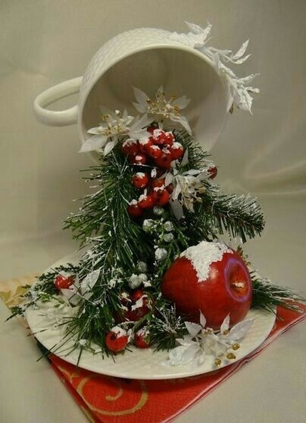 Christmas decorations with ornaments spilled from cups (12)