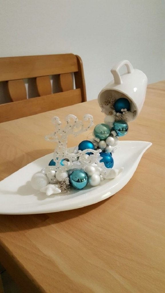 Christmas decorations with ornaments spilled from cups (17)