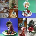 Christmas decorations with ornaments spilled from cups (18)