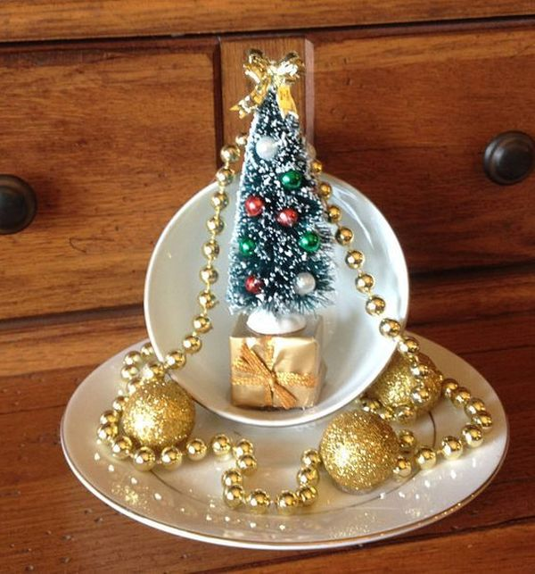 Christmas decorations with ornaments spilled from cups (9)