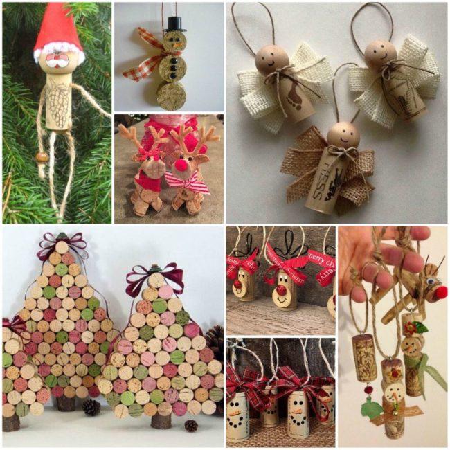 Wonderful Diy 30 Homemade Christmas Ornaments: From Scrap Wine Cork Stoppers In Wonderful Diy Christmas