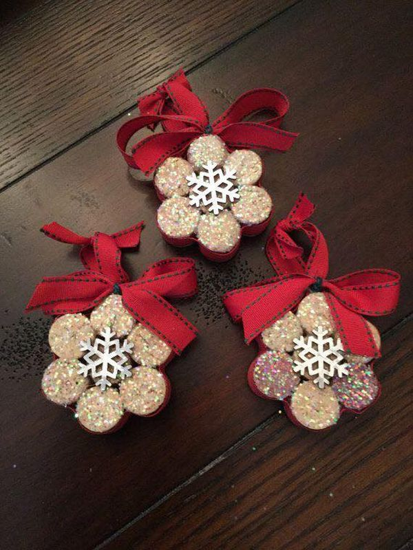 diy Christmas ornaments from corks (21)