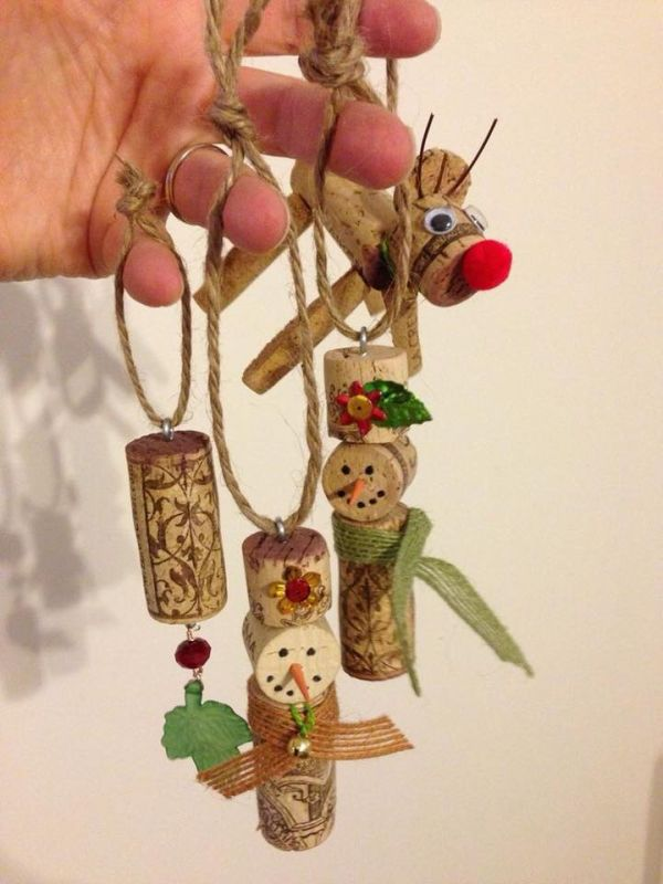 diy Christmas ornaments from corks (27)