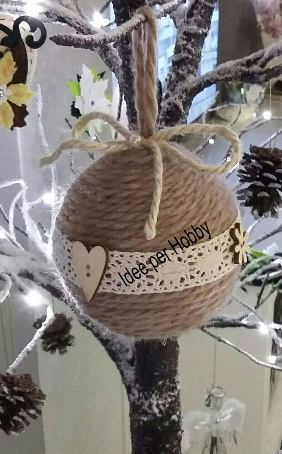 Christmas ornaments made of string (17)