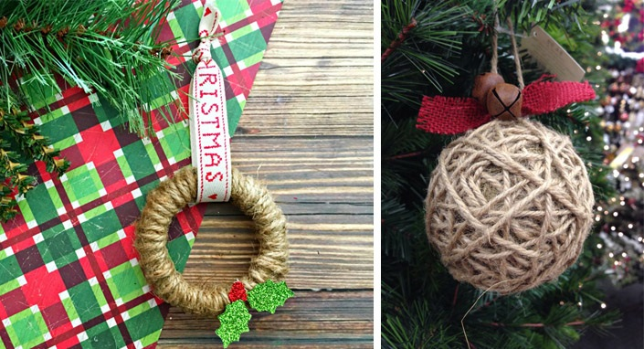 Christmas ornaments made of string (8)