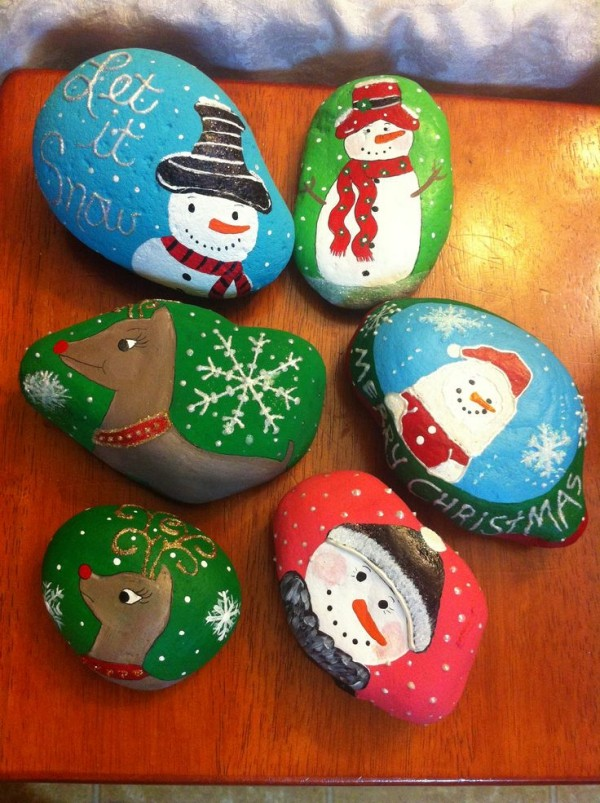 Christmas Painting On Stones And Pebbles 125 Ideas For