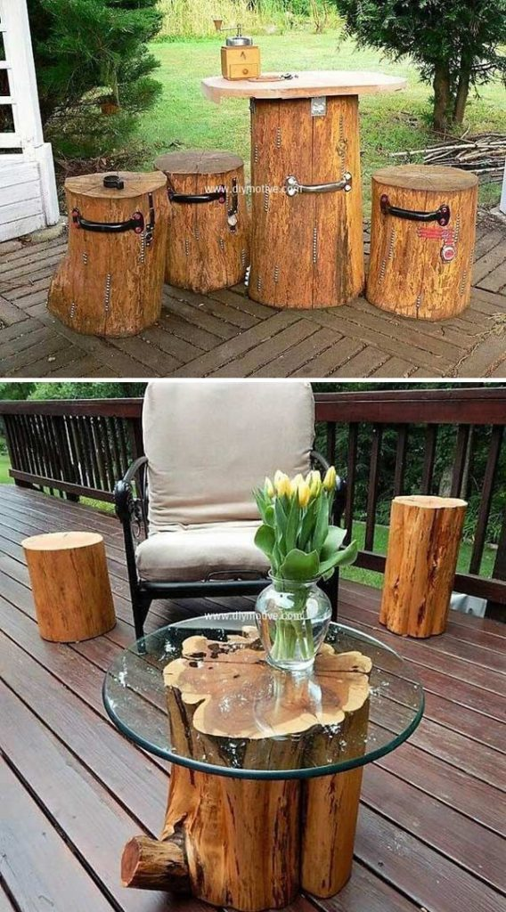 DIY projects for the garden made of wood (5)