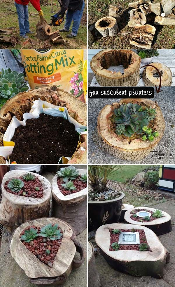 DIY projects for the garden made of wood (9)