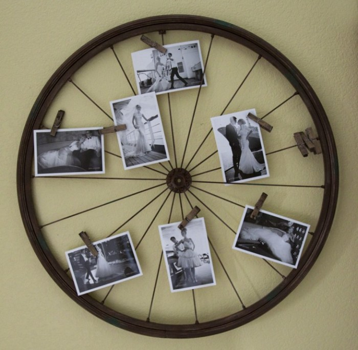 DIY by recycling bicycle wheels10