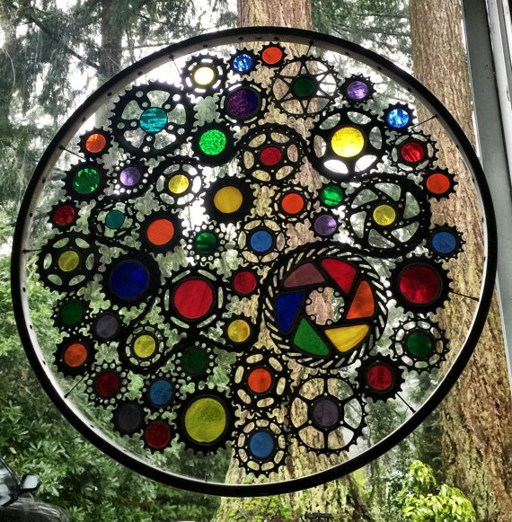 DIY by recycling bicycle wheels12