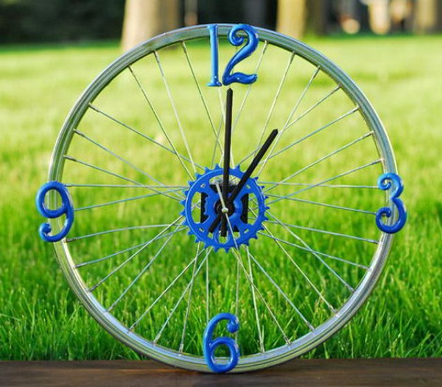 DIY by recycling bicycle wheels14