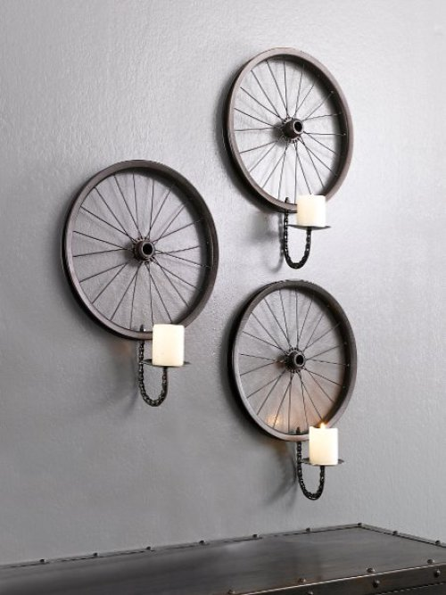 DIY by recycling bicycle wheels16