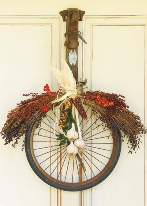 DIY by recycling bicycle wheels9