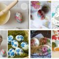 Decoupage in Easter eggs