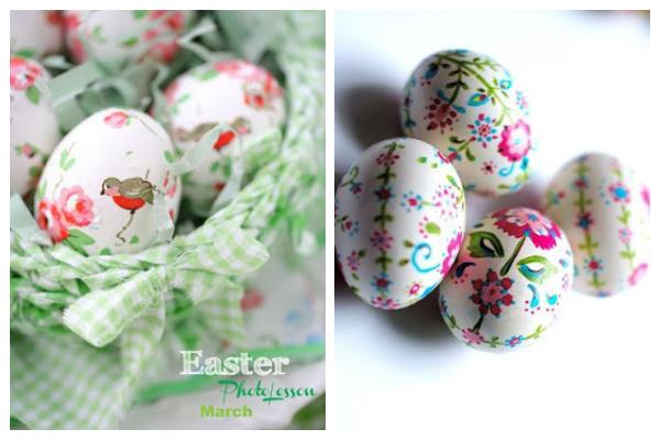 Decoupage in Easter eggs1