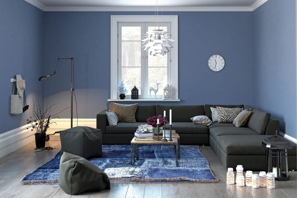 Shades of Blue for the walls