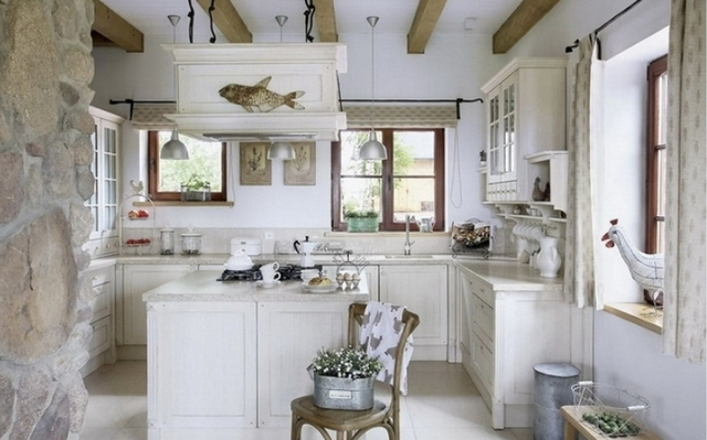 small kitchen in the style of Provence10
