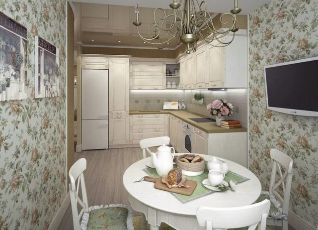 small kitchen in the style of Provence12