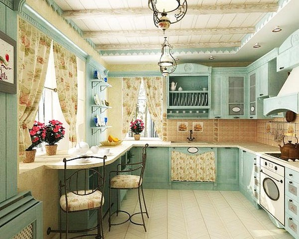 small kitchen in the style of Provence5