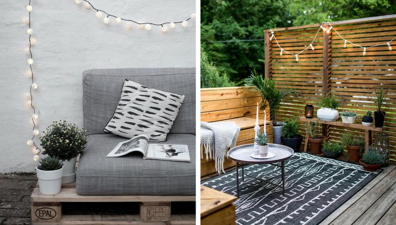 Balcony pallet Sofa ideas