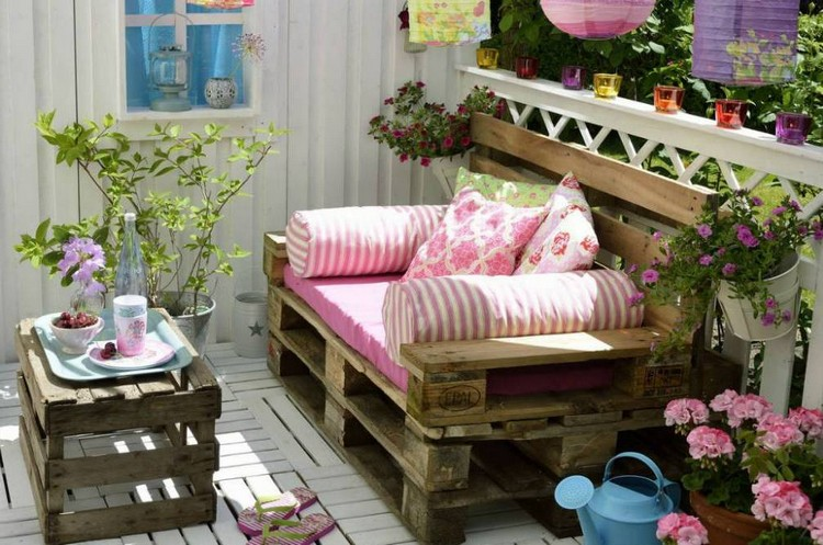 Balcony pallet Sofa ideas13