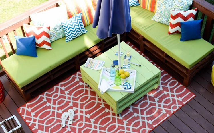 Balcony pallet Sofa ideas3