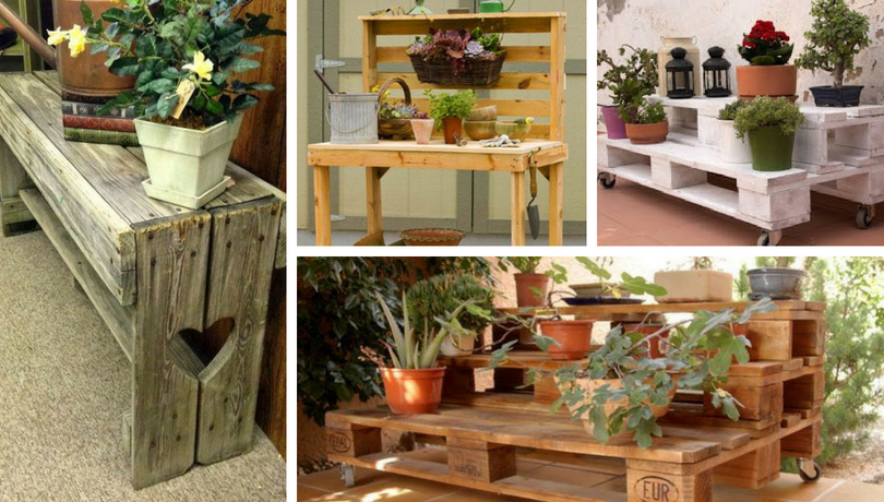 Cool DIY pot stands from pallets