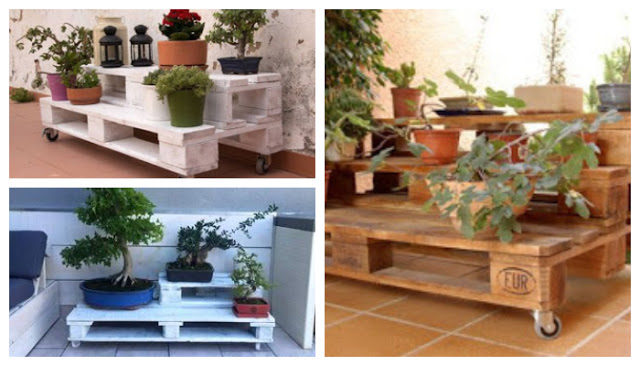 DIY pot stands from pallets4