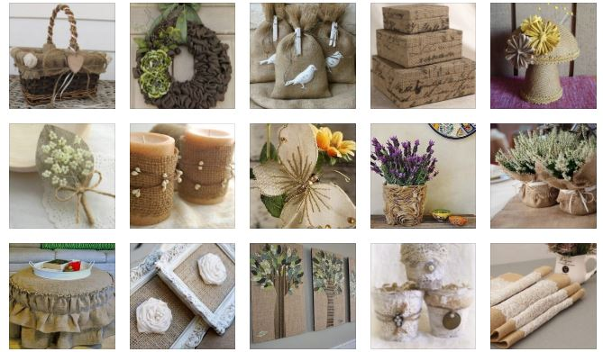 decor ideas from burlap