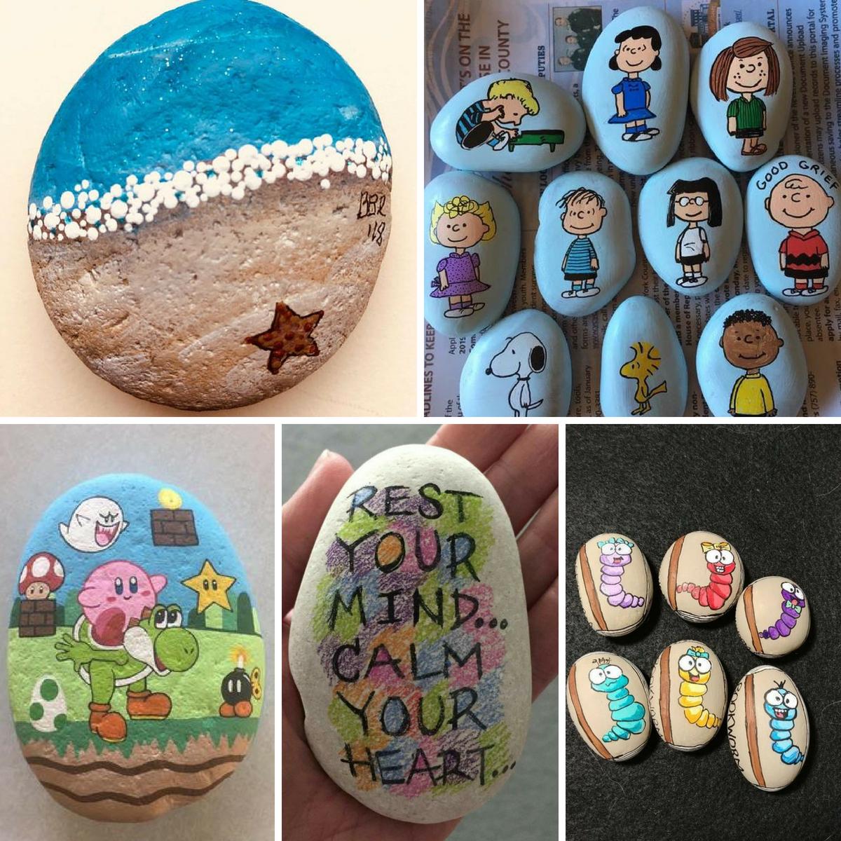diy rock painting ideas5