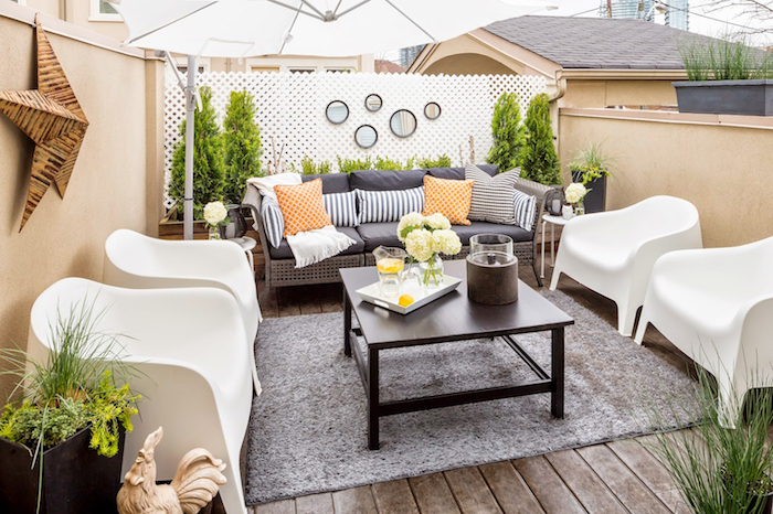 Patio Terrace For Amazing Furniture Roof Terrace Patio Design With Green Garden Near Brown On Patio Terrace - Home Improvement