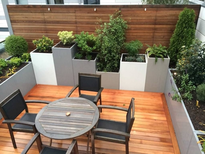 Good exterior : attractiv roof terrace design using wooden pergola roof Pictures - House Plan Ideas