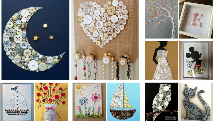 30 cool diy crafts from buttons obsigen