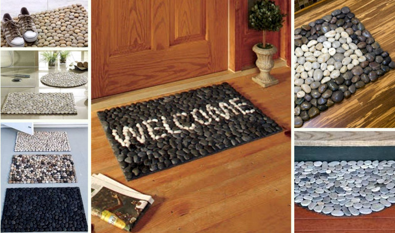 Cool DIY mats from pebbles