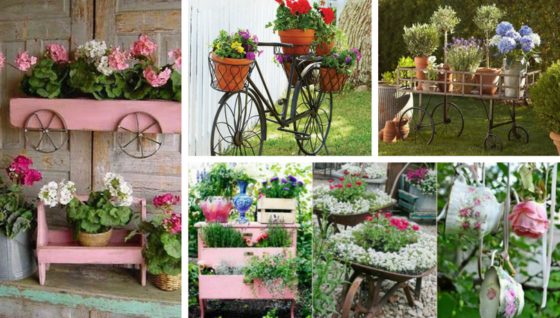 How To Make Wonderful Vintage Gardens With Old, Recycled Objects ...